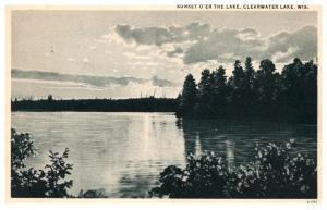 Wisconsin   Clearwater , Sonset o'er the lake