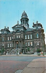 St Clairsville Ohio~Belmont County Court House~1960s Postcard