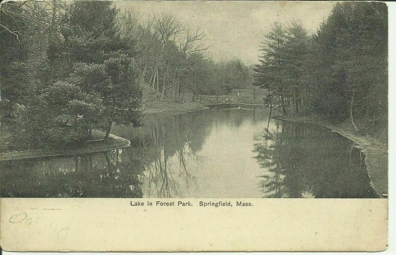 Springfield, Mass., Lake in Forest Park