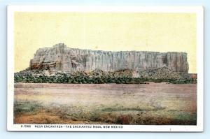 Postcard NM Mesa Encantada the Enchanted Mesa Fred Harvey c1920s D25