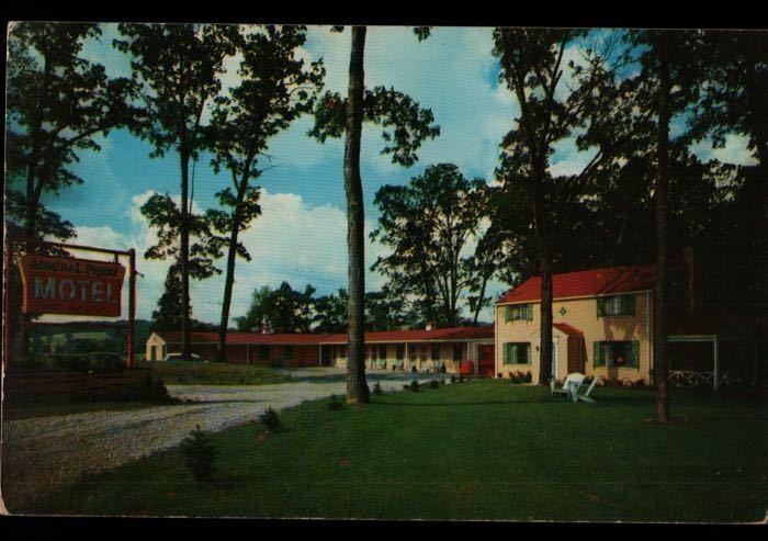 Mars PA Admiral Perry Motel RT 19 Vintage Postcard B02