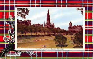 Scotland, UK Old Vintage Antique Post Card Scott Monument from Gardens Edinbu...