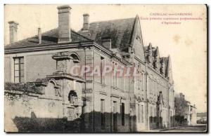 Cadillac sur Garonne Postcard Old superior professional Elementary School & #...