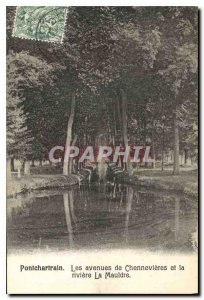 Old Postcard Pontchartrain Avenues Chennevieres and the river Mauldre