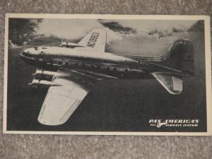 Pan American Airways New B-307 Stratoclipper, used vintage card, 1941