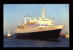 SIM0451 - Holland America Liner , Rotterdam , built 1959 - postcard
