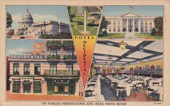 Hotel Occidental On Famous Pennsylvania Avenue Near White House Washington D C