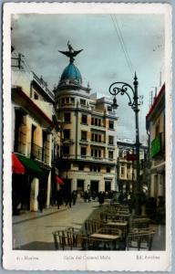 HUELVA SPAIN CALLE DEL GENERAL MOLA ANTIQUE REAL PHOTO POSTCARD RPPC