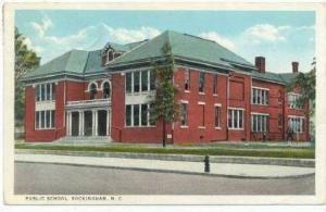 Public School, Rockingham, North Carolina, 1910-20s PU