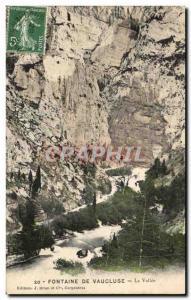 Old Postcard Fontaine De Vaucluse La Vallee