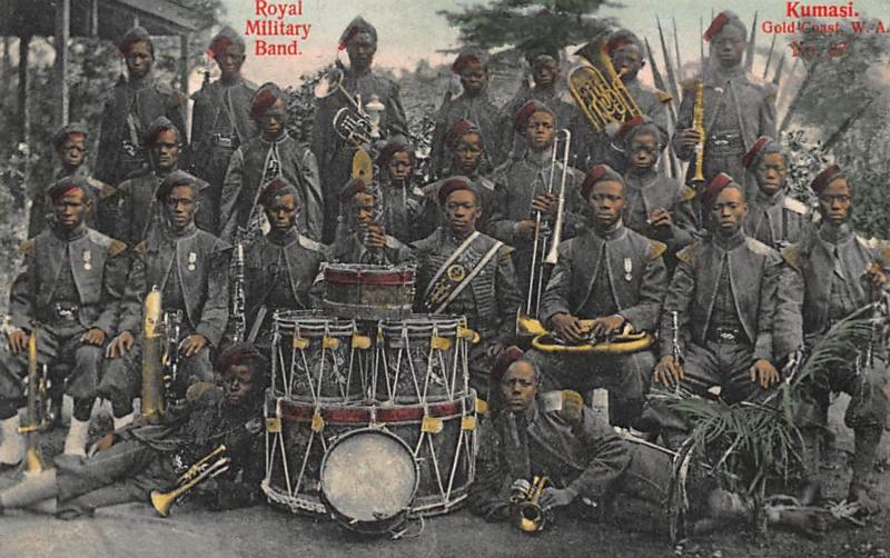 GHANA GOLD COAST : royal military band, kumasi - tres bon etat
