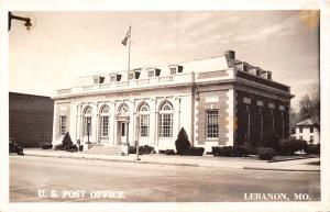 Lebanon Missouri~US Post Office~House Behind~1932 Real Photo Postcard~RPPC