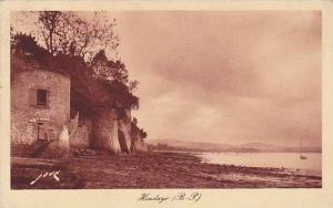 Shoreside View of Hendaye, (B.P) Pyrenees-Atlantiques, France, PU