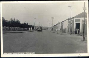 venezuela, CUMANA, Avenida Bermudez corner Calle Vargas (1952) RPPC