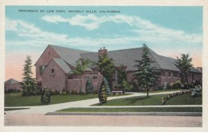 BEVERLY HILLS, California, 1900-10s; Residence of Lew Cody