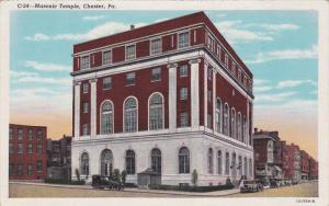 Street view,  Masonic Temple,  Chester,  Pennsylvania,   30-40s