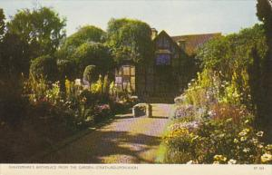 England Stratford-upon-Avon Shakesspeare's Birthplace From The Garden