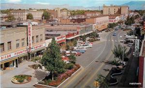 1960s GRAND JUNCTION COLORADO Birdseye Main Street automobiles postcard 16-145