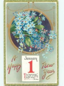 Divided-Back NEW YEAR SCENE Great Postcard AA2040