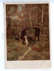 232514 RUSSIA Pryanishnikov hunting POINTER dog Vintage SFA