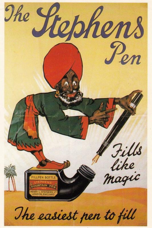 The Stephens Pen Fountain Ali Baba Turkish Indian Advertising Poster Postcard