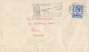 Southend On Sea Plane Airport Business Centre 1965 Slogan Envelope