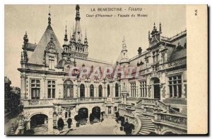 Postcard The Old Benedictine Fecamp Court Facade of Honor Museum