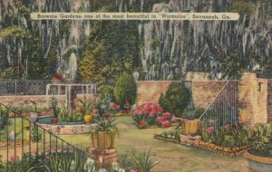 SAVANNAH, Georgia , 30-40s ; Brownie Gardens, Wormsloe