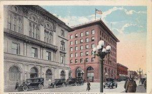 Colorado Pueblo Main Street Showing Post Office & Thatcher Building 1922 sk5048