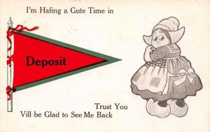 Deposit NY Hafing A Gute Time~Trust You Vill Be Glad To See Me c1913 Harford