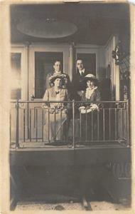 RPPC Riverview Exposition, Chicago Train Caboose Photo c1910s Vintage Postcard