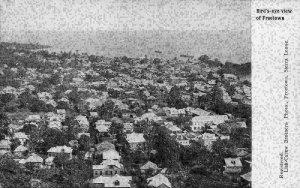 Sierra Leone Bird's eye View of Freetown Panorama Postcard