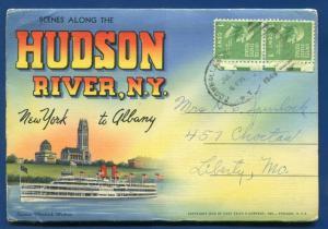 Hudson River New York ny Promenade Park Peekskill Academy postcard folder.