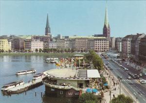 Germany Hamburg Jungfernstieg und Alsterpavillon
