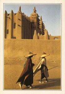 Mali Djenne De Moskee van Leem Postcard