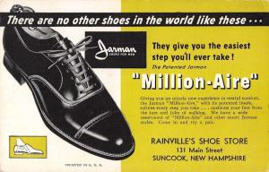 Suncook New Hampshire advertisement Rainville's Shoe Store blank back pc Z45738