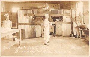 Base Hospital Camp Bakery  Camp Pike Arkansas Military Photo Postcard RR508