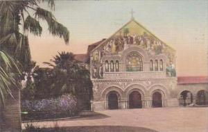 California Stanford University Memorial Church Handcolored Albertype