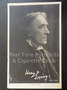 Tucks Signed Portrait: SIR HENRY IRVING c1906
