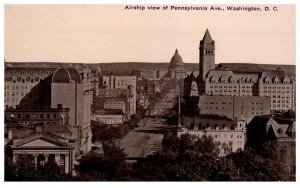 1910's Pennsylvania Avenue Ariel View Washington DC PC2019
