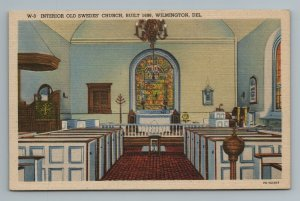Interior Old Swedes' Church, Built 1698, Wilmington, Delaware,  Postcard