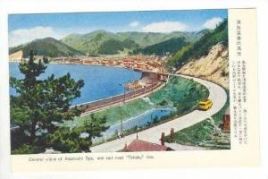 General view , Railroad  Tohoku  line, Asamushi Spa, Japan, 1940s-50s