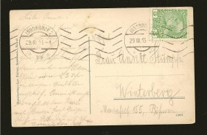 Postmarked 1913 Innsbruck Austria Maria Theresienstrasse Color Postcard
