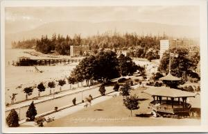 English Bay Vancouver BC Gowen Sutton Unused Real Photo Postcard F10