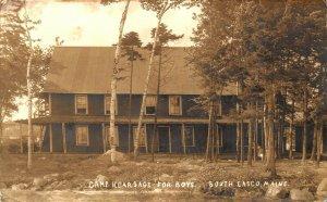 South Casco ME Camp Kearsage For Boys Real Photo Postcard