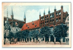 Lubeck Rathaus, German Town Halls, Echte Wagner Trade Card *VT31W