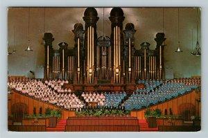 Salt Lake City UT- Utah Mormon Tabernacle Choir and Organ, Chrome c1977 Postcard
