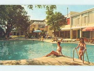 Pre-1980 Risque BIKINI GIRLS AT MOTEL Jekyll Island Georgia GA hk1354