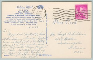 Cave City Kentucky~Holiday Motel~Pool Park Area~Vintage Postcard