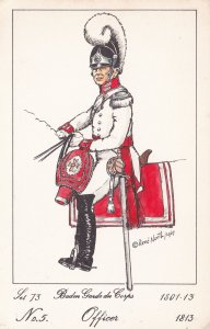 Baden Guard Du Corps French Officer Soldier Napoleonic War PB Postcard